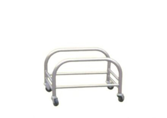 Unfolding Stainless Steel Display Racks On Wheels Supermarket Shopping Basket Holder