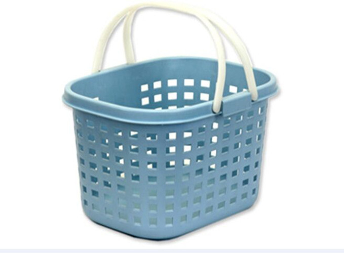 Household Portable Hand Shopping Basket Storage Plastic Baskets With Handles