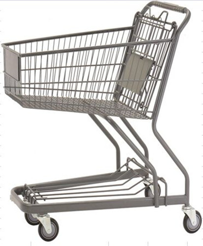 70L Custom Shopping Basket Trolley Powder Coating Wire Basket Cart
