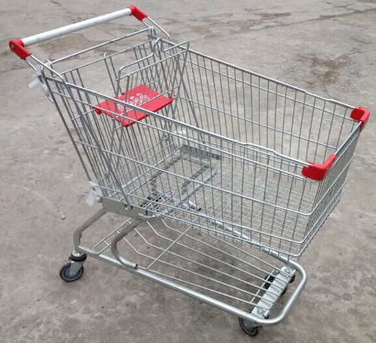Custom Grocery Shopping Trolley Wire Cart On Wheels American Style 180 Litres