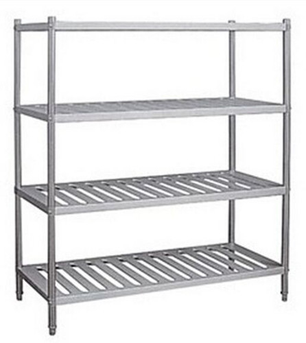 Adjustable Stainless Steel Display Shelf Floor Standing Anti - Rust