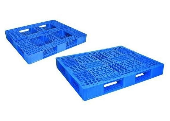 Large Capacity Supermarket Accessories Industrial Plastic Pallets Blue Stackable Grid Plastic Pallet