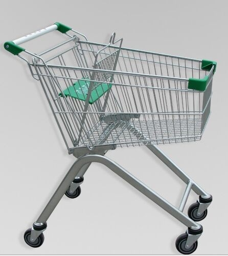 Metal Luggage Shopping Trolley With Wheels , Supermarket Unfolding Cart 80L