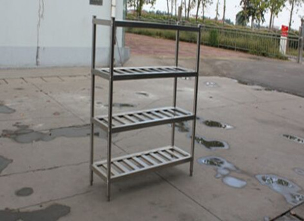 Disassembly Supermarket Stainless Steel Display Racks Kitchen Pot Shelf