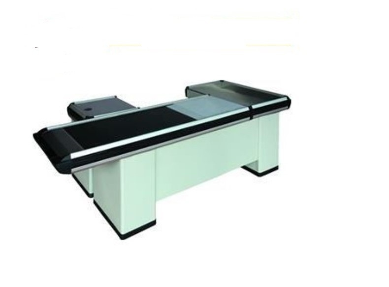 Electric Checkout Counter Desk With Motor / Rustless Cash Counter