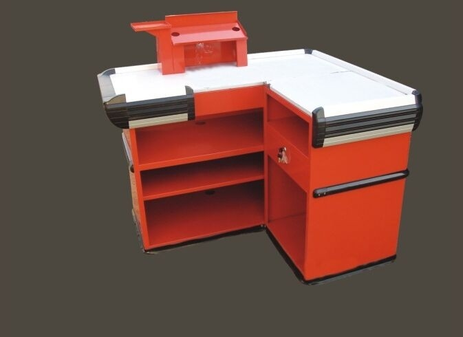 Customized Supermarket Express Checkout Counter , Convenient store Cash Register Table