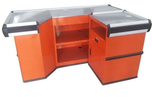 Cashier Table Durable Supermarket / Retail Store Counters Desk For Checkout