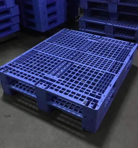 Single Faced Recycled Storage Heavy Duty Plastic Pallet  For Warehouse
