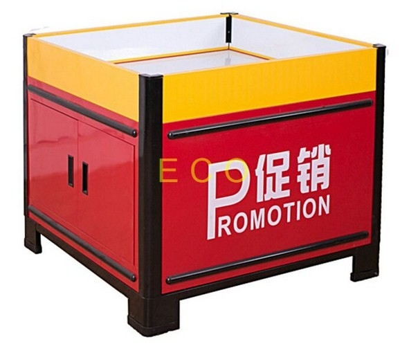 Movable Metal Promotion Display Counter Store Supermarket Accessories L1000 * W1000 * H850 mm