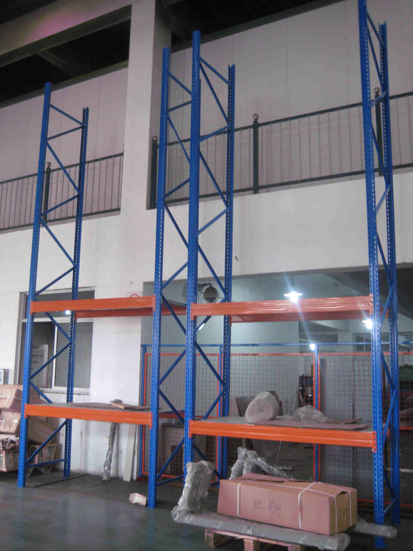 Solid Structure Assembled Warehouse Storage Racks Metal Longspan Shelves