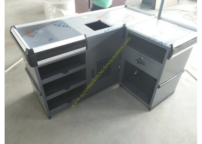 Useful Design Convience Store Metal Cash Counter Used In Shopping