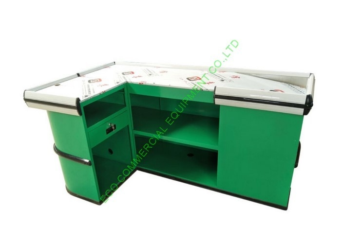 Non Electric Stainless Steel Checkstand Desk / Retail Cash Register Counters